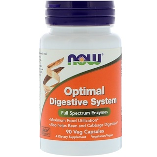Now Foods, Optimales Verdauungssystem, 90 vegetarische Kapseln