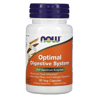 Now Foods, Optimal Digestive System, 90 Veg Capsules