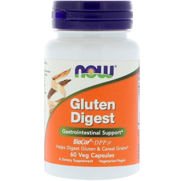 Now Foods, Gluten Digest,60 粒膠囊