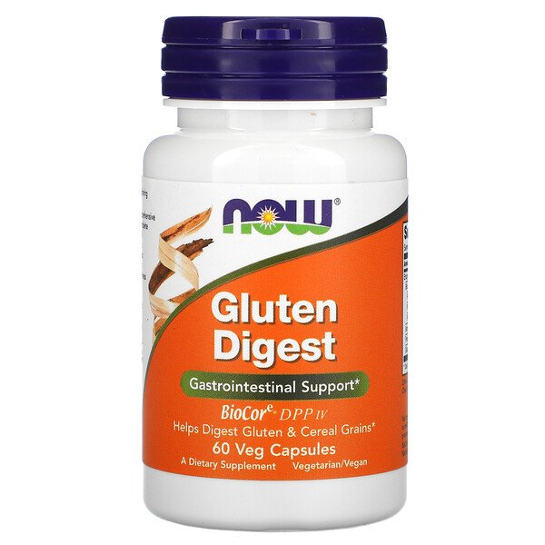 Now Foods, Gluten Digest, 60 cápsulas vegetales