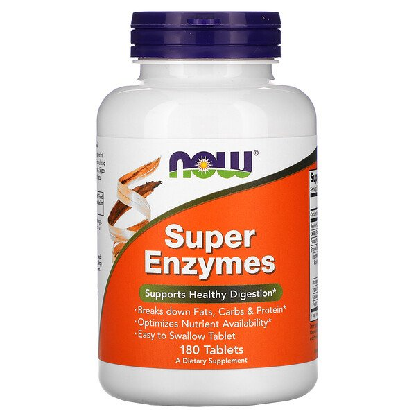 Super Enzymes, 180 Tablets