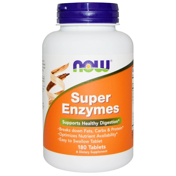Now Foods, Super Enzimas, 180 Comprimidos