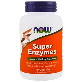 Now Foods, Super Enzyme, 90 Kapseln