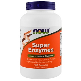 Now Foods, Super-Enzyme, 180 Kapseln