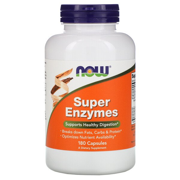 Now Foods, Super Enzimas, 180 Cápsulas