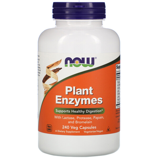 Now Foods, Enzimas Vegetais, 240 Cápsulas Vegetais