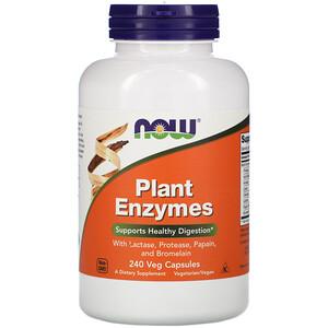 Now Foods, Plant Enzymes, 240 Veg Capsules отзывы покупателей