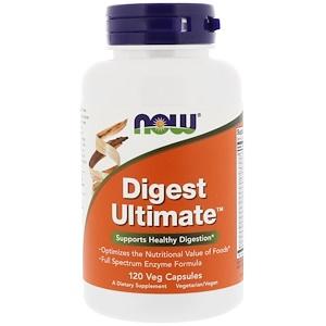 Now Foods, Digest Ultimate, 120 растительных капсул