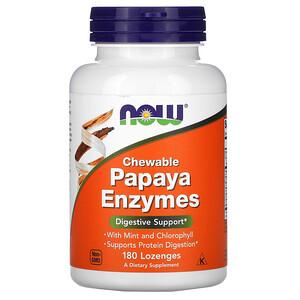 Now Foods, Chewable Papaya Enzymes, 180 Lozenges отзывы
