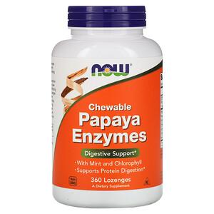 Now Foods, Chewable Papaya Enzymes, 360 Lozenges отзывы