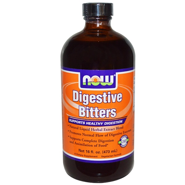 Now Foods, Digestive Bitters, 16 fl oz (473 ml) (Discontinued Item)
