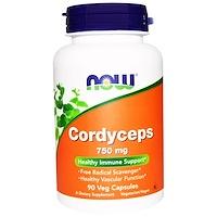 Кордицепс, 750 мг, 90 капсул - фото