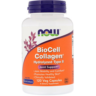 Now Foods, BioCell Kollagen, hydrolisierter Typ II, 120 vegetarische Kapseln