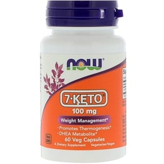 Now Foods, 7-KETO, 100 mg, 60 야채 캡슐