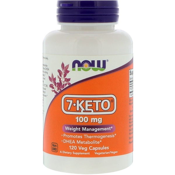 Now Foods, 7-KETO, 100 mg, 120 베지 캡스