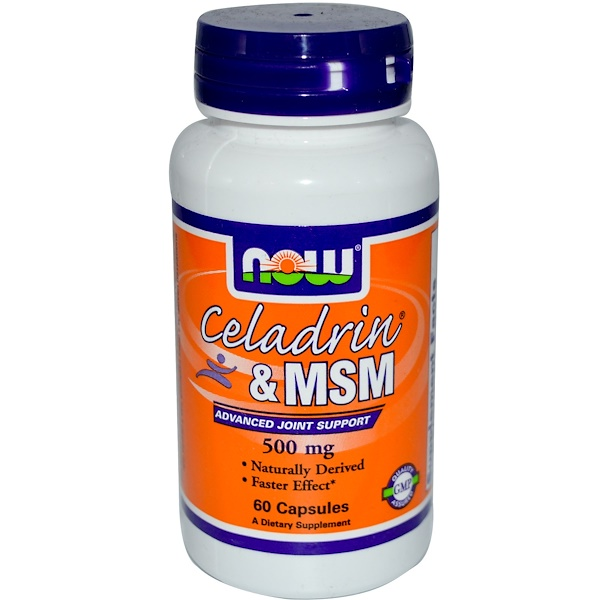 Now Foods, Celadrin & MSM, 60 Capsules (Discontinued Item)