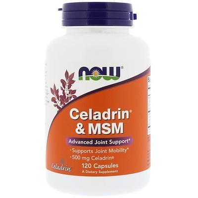 Купить Now Foods Celadrin и МСМ (метилсульфонилметан), 120 капсул