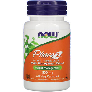 Now Foods, Phase 2, Starch Neutralizer, 500 mg, 60 Veg Capsules отзывы покупателей