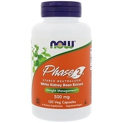 Now Foods, Phase 2 Starch Neutralizer, 500 mg, 120 Veg Capsules