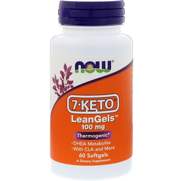 Now Foods, 7-Keto, LeanGels، 100 مج، 60 كبسولة هلامية