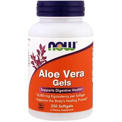 Купить Now Foods Aloe Vera Gels, 250 мягких желатиновых капсул