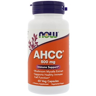Now Foods, AHCC, 500 mg, 60 Veg Capsules