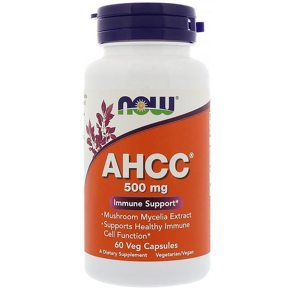 Now Foods, AHCC, 500 mg, 60 Veg Capsules (Discontinued Item)