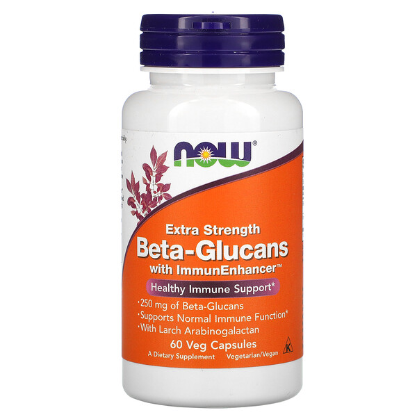Beta-Glucans, with ImmunEnhancer, Extra Strength, 250 mg, 60 Veg Capsules