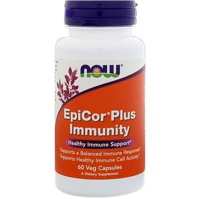 Now Foods EpiCor Plus Immunity, 60 растительных капсул  - купить со скидкой