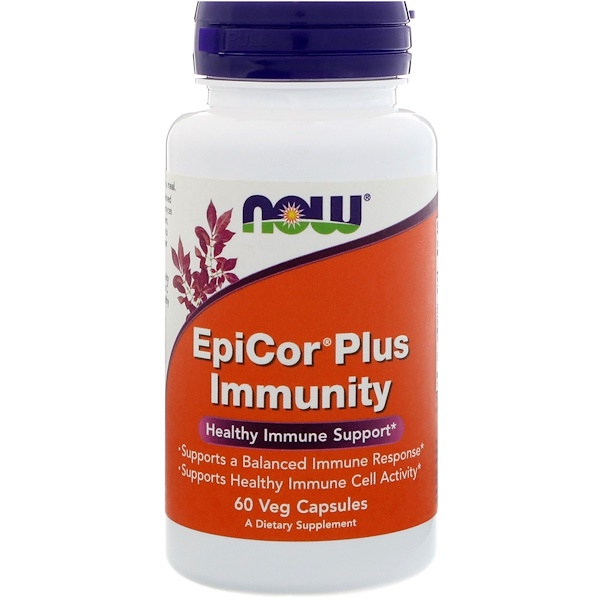 Now Foods, EpiCor Plus Immunity, 60 كبسولة نباتية
