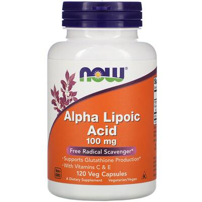 Альфа-липоевая кислота, 100 мг, 120 вегетарианских капсул альфа липоевая кислота экстра сила 600 мг 60 растительных капсул