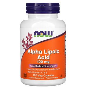 Now Foods, Alpha Lipoic Acid, 100 mg, 120 Veg Capsules отзывы покупателей