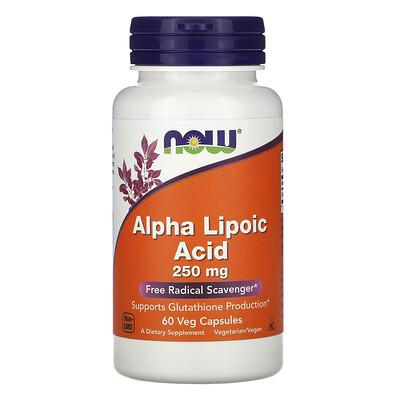 Now Foods Alpha Lipoic Acid, 250 mg, 60 Veg Capsules