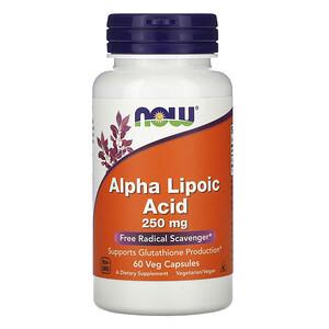Now Foods, Alpha Lipoic Acid, 250 mg, 60 Veg Capsules отзывы покупателей