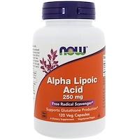 Альфа-липоевая кислота, 250 мг, 120 вегетарианских капсул - фото