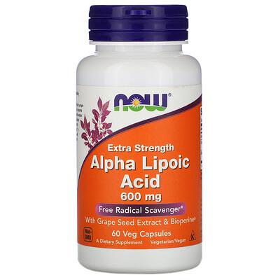 Alpha Lipoic Acid, Extra Strength, 600 мг, 60 растительных капсул