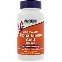 Альфа-липоевая кислота, экстра сила, 600 мг, 60 растительных капсул - фото