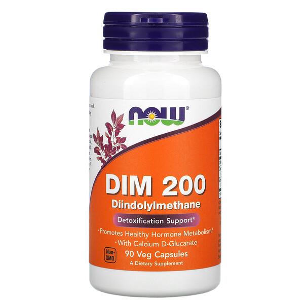 Now Foods, DIM 200, מכיל 90 כמוסות צמחיות
