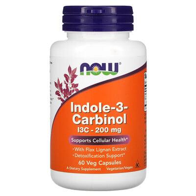 Now Foods индол 3-карбинол, 200мг, 60растительных капсул