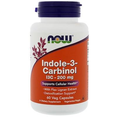 Купить Индол 3-карбинол, 200 мг, 60 растительных капсул