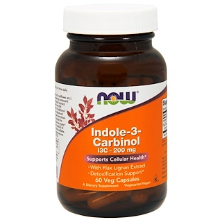 Now Foods, Indole-3-Carbinol, 200 mg, 60 cápsulas vegetales