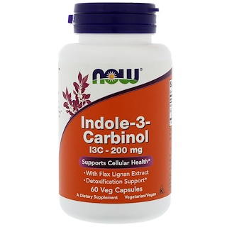 Now Foods, Indol-3-Carbinol, 200 mg, 60 vegetarische Kapseln