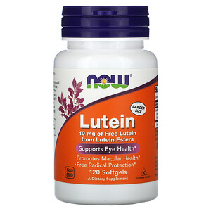 Now Foods, Lutein, 10 mg, 120 Softgels отзывы