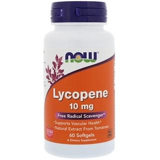Now Foods, Licopeno, 10 mg, 60 cápsulas softgel