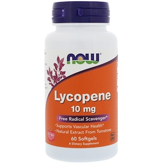 Now Foods, Lycopene, 10 mg, 60 Softgel Kapseln