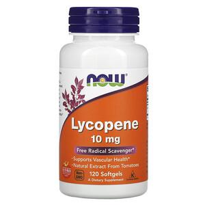 Now Foods, Lycopene, 10 mg, 120 Softgels отзывы покупателей