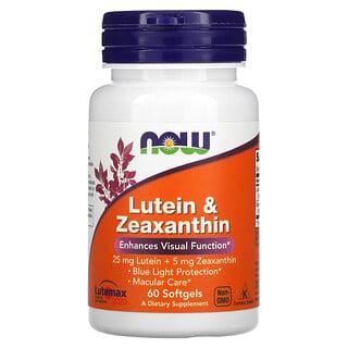 Now Foods, Lutein & Zeaxanthin, 60 Softgels