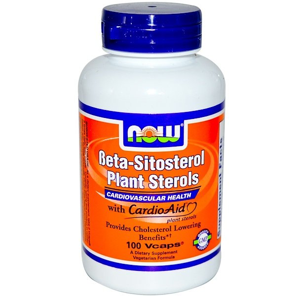 Now Foods, Beta-Sitosterol Plant Sterols, 100 Vcaps (Discontinued Item)
