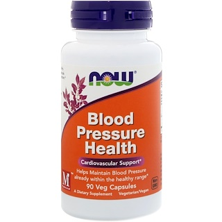 Now Foods, Blood Pressure Health, 90 cápsulas vegetarianas