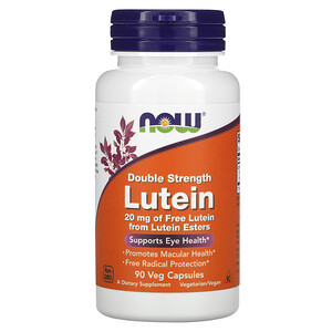 Now Foods, Lutein, Double Strength, 90 Veg Capsules отзывы покупателей